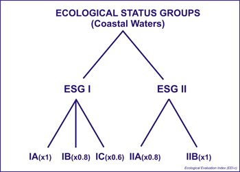 Ecological Status Groups Coastal Waters